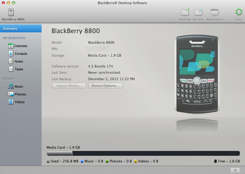 从BlackBerry导出通讯录到iPhone插图