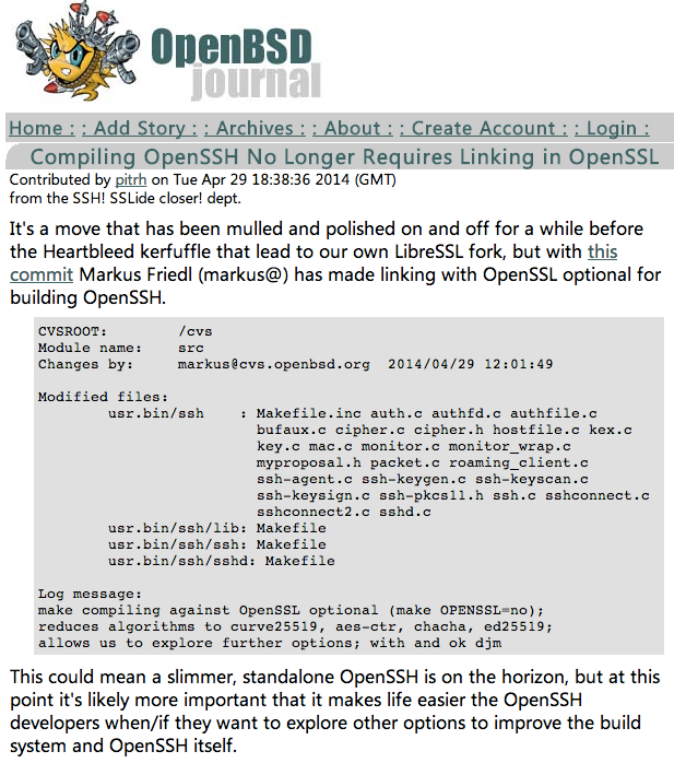 openssh不依赖openssl