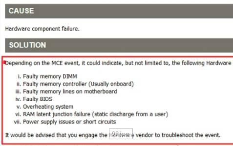 Linux 硬件错误日志