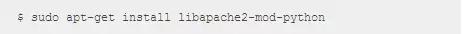 Ubuntu 12.04下3分钟搭建apache+python的运行环境插图(1)