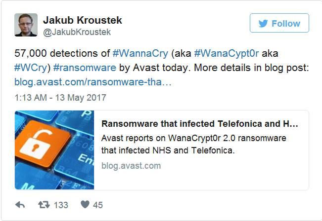 全球近100国家遭勒索软件WannaCry攻击,约7.5万台计算机感染插图(2)