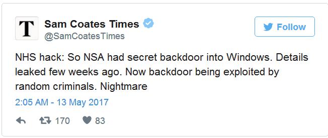 全球近100国家遭勒索软件WannaCry攻击,约7.5万台计算机感染插图(3)