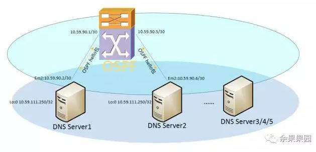 系统运维:DNS通过软路由(Quagga's OSPF)实现负载均衡插图(2)