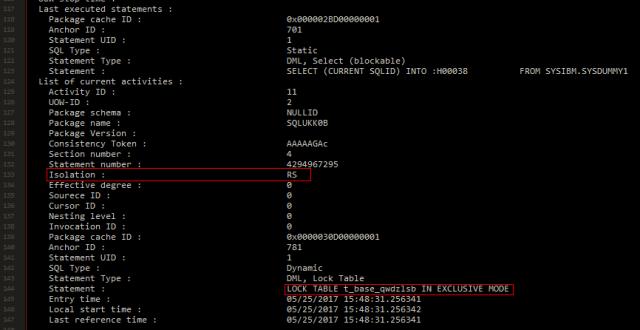 记一次生产DB2数据库锁超时问题的分析与排查插图(9)