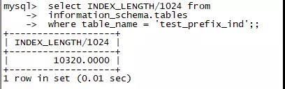 MySQL的前缀索引及Oracle的类似实现插图(7)
