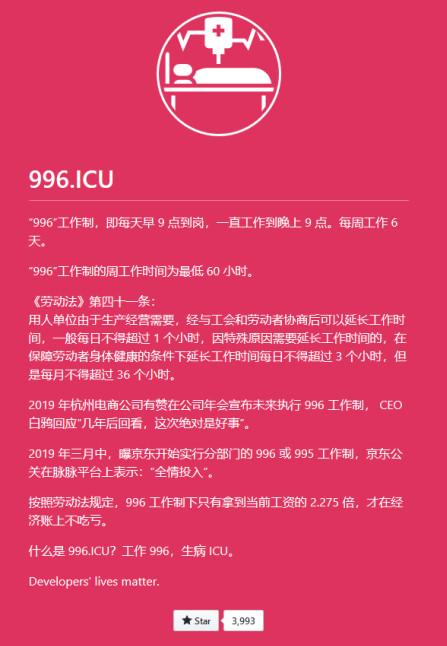 """最强反击!程序员注册996.ICU域名炮轰""""996""""工作制插图"""