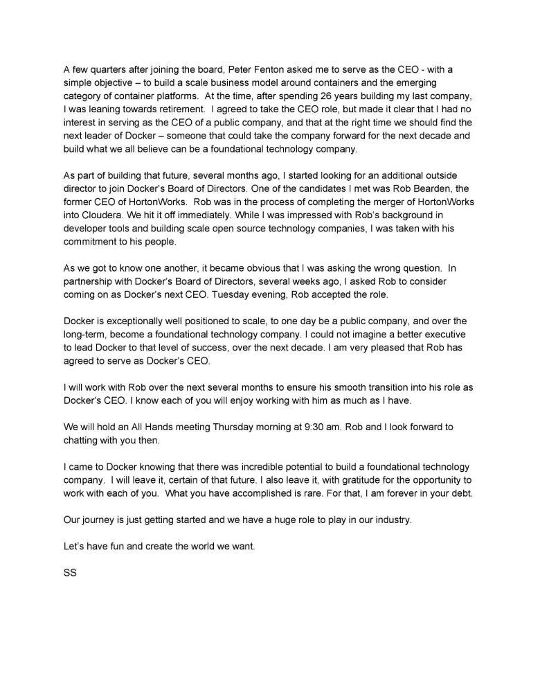 Steve Singh辞去Docker公司CEO一职插图(2)